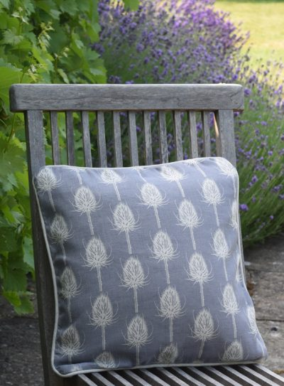 blue teasel cushion